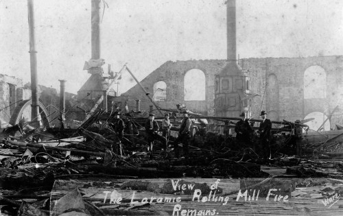 "Remains from the Rolling Mills Fire.  What was supposed to make Laramie the ""Pittsburgh of the West"" went up in smoke and was never rebuilt."